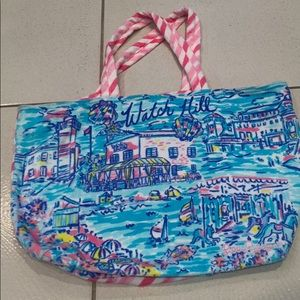 Lilly Pulitzer Destination Tote Watch Hill NWT